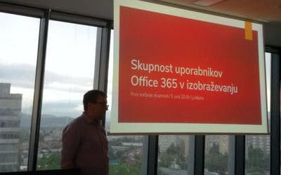 Ustvarjajmo skupnost uporabnikov storitev Office 365 v izobraževanju